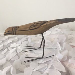 Other - Wood Bird with metal legs